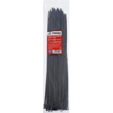 Хомут нейлоновый 3.6 х 300 мм, черный, в упаковке 100 шт