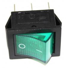 Выключатель одноклав. широкий 26*31 (индикат. лампа). 66449