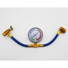 Шланг для заправки автокондиционера c манометром FC-AL801G70