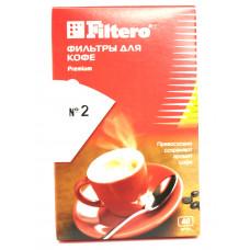Одноразовые бумажные фильтры для кофеварок капельного типа 40 шт. 2/40