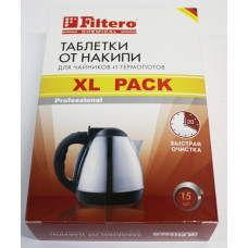 Таблетки от накипи Filtero для чайников и термопотов, XL Pack, 15шт. арт. 609