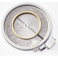 Конфорка двухзонная для стеклокерамических плит Whirlpool (Вирпул), Indesit (Индезит), Ariston (Аристон) D230/140mm, 2200/700W, 481231018895, C00339918, зам.481225998396, 481225998324