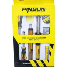 T205 Набор паяльный Pinsun 8 предметов 40w